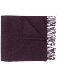 N.Peal Large Woven Cashmere Scarf Purple