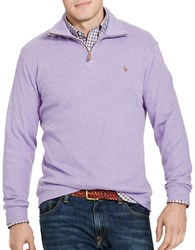 Polo Big And Tall Ribbed Cotton Pullover Purple