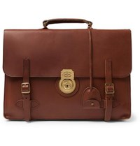 Polo Ralph Lauren Leather Briefcase Brown