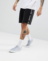 Hollister Logo Taping Icon Seagull Logo Sweat Shorts In Black