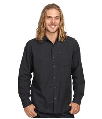 Hurley L S One Only 2.0 Woven Black Men's Long Sleeve Button Up