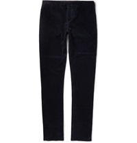 Burberry Slim Fit Corduroy Trousers Blue