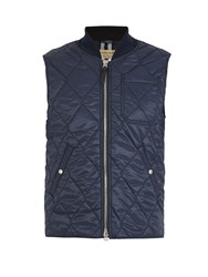 Burberry Powell Quilted Gilet Navy