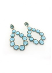 Isabel Englebert Capri Blue Topaz Oval Earrings