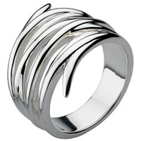 Kit Heath Twine Helix Wrap Ring Silver