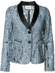 Alexis Embroidered Blazer Blue