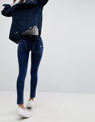 Freddy Wr.Up Shaping Effect Mid Rise Push Up Skinny Jean With Rips Mid Blue