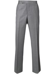 Thom Browne Tailored Trousers Men Cupro Wool 4 Grey