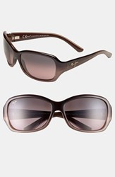 Women's Maui Jim 'Pearl City' 63Mm Sunglasses Chocolate Fade