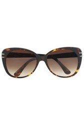 Roland Mouret D Frame Tortoiseshell Acetate And Silver Tone Sunglasses Dark Brown