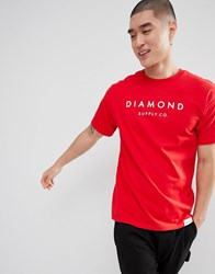 Diamond Supply Co. Stone Cut T Shirt In Red