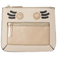 Dune Kweeny Face Coin Purse Taupe