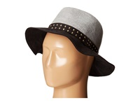 Bcbgeneration Pin Stud Panama Black Traditional Hats