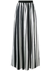 Blugirl Striped Maxi Skirt Women Cotton Polyester Spandex Elastane 38 Black