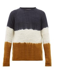 Denis Colomb Hand Dyed Cashmere Sweater Yellow Multi