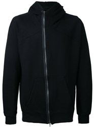 Julius Asymmetric Zip Hoodie Men Cotton 3 Black