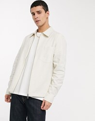 Weekday Ahmed Linen Overshirt In White