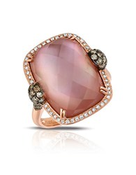 Marco Moore Amethyst And Quartz Doublet Diamond And 14K Rose Gold Ring