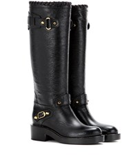 Balenciaga Embellished Leather Boots Black