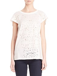Foundrae Embroidered Tee White