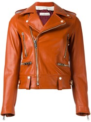 Golden Goose Deluxe Brand Dabon Biker Jacket Yellow Orange