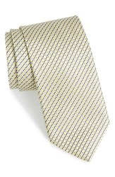 Men's John W. Nordstrom 'Raine Mini' Geo Print Silk Tie Yellow
