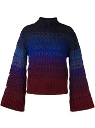 Kenzo Perforated Jumper Blue
