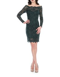 Decode 1.8 Off The Shoulder Lace Bodycon Dress Emerald