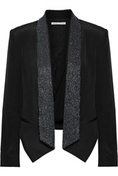 Rebecca Minkoff Becky Beaded Silk Blazer Black