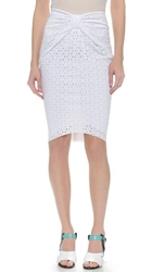 Bec And Bridge Helios Eyelet Skirt White