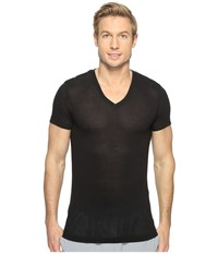 2Xist Active Core Mesh V Neck Black Men's Clothing