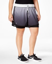 Ideology Plus Size 2 In 1 Shorts Only At Macy's Noir Fade