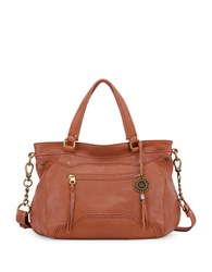 The Sak Tahoe Leather Satchel Bag Cognac