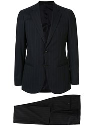 Giorgio Armani Two Piece Pinstripe Formal Suit 60