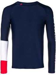 Perfect Moment Panelled Sleeve Rash Guard Blue