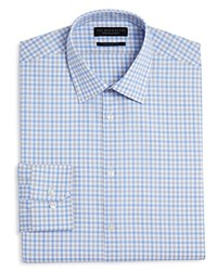 Bloomingdale's The Men's Store At Chevron Check Regular Fit Dress Shirt 100 Exclusive Gray