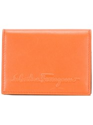 Salvatore Ferragamo Logo Embossed Wallet Yellow Orange