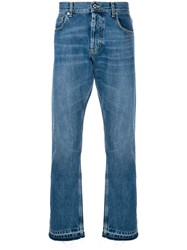 Alexander Mcqueen Classic Straight Jeans Cotton Blue