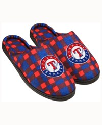 Forever Collectibles Texas Rangers Flannel Slide Slippers Blue