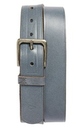 Men's Nixon 'Dna' Leather Belt Grey
