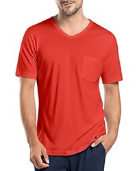 Hanro Night And Day V Neck Tee Lava Red