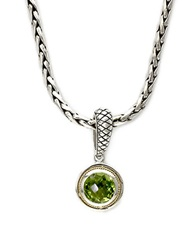 Effy Balissima Peridot Pendant In Sterling Silver And 18 Kt. Yellow Gold Sterling Silver 18K Yellow Gold