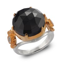 Emma Chapman Jewels Opium Black Spinel And Moonstone Ring