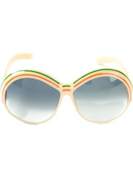 Christian Dior Vintage Round Frame Sunglasses Nude And Neutrals