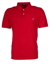 Gant Solid Pique Polo Shirt Red