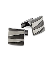 Hickey Freeman Two Tone Square Cufflinks Silver