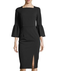 Donna Morgan Body Con Dress With Slit Black