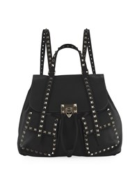 Valentino Garavani Rockstud Double Pocket Backpack Black