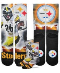For Bare Feet Le'veon Bell Pittsburgh Steelers City Star Player Crew Socks Black