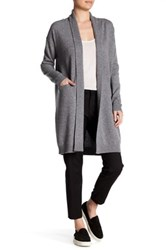 Vince Long Shawl Collar Cashmere Cardigan Beige